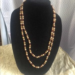 Genuine dyed pearl necklace
